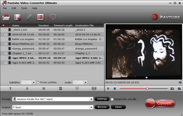 fire hdx video converter