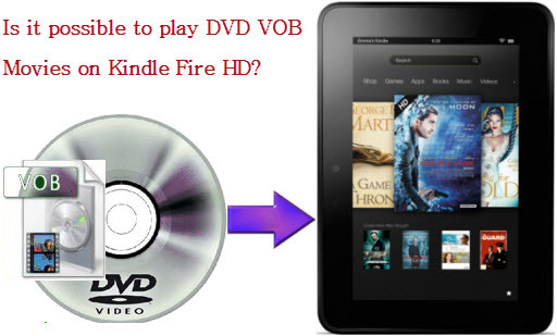 Move DVD VOB files to Kindle Fire HD
