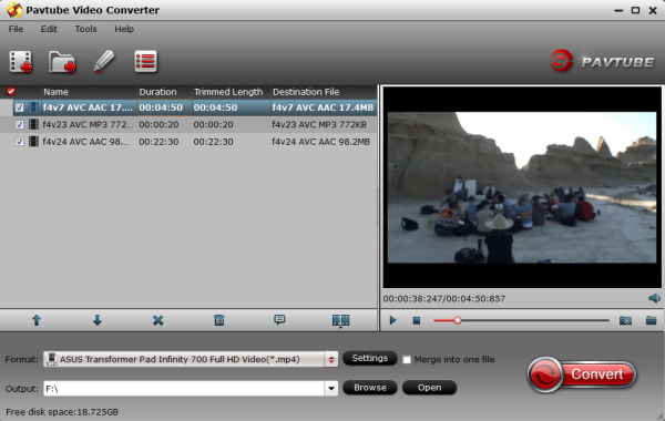 Video Converter for Infinity TF700