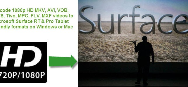 Surface Video Format-Play 1080p/720p videos on Surface RT & Pro