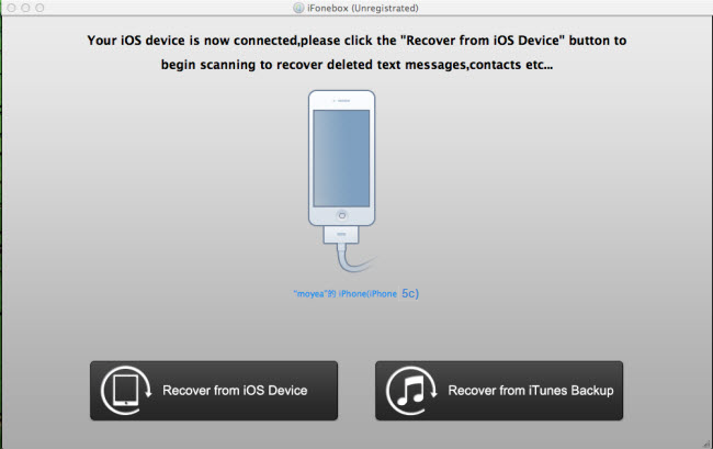 Recover from iOS Device