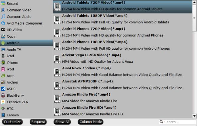 BlackBerry Z30 and Z10 playable format