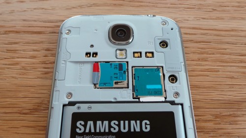 SIM card fitted