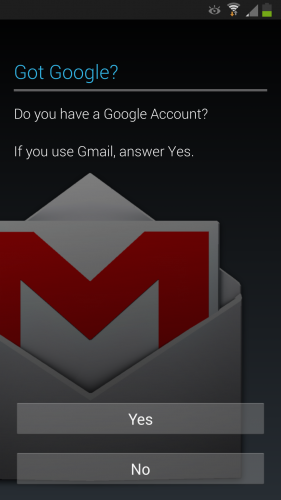 Enter Your Google Account Details