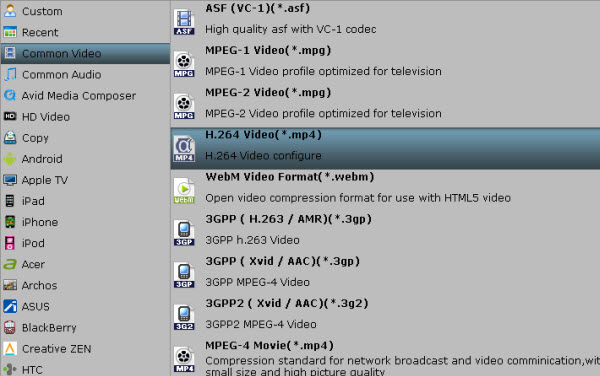 converting video to Blackberry Z10