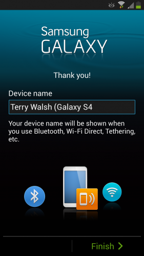 Give your Galaxy S4 a name