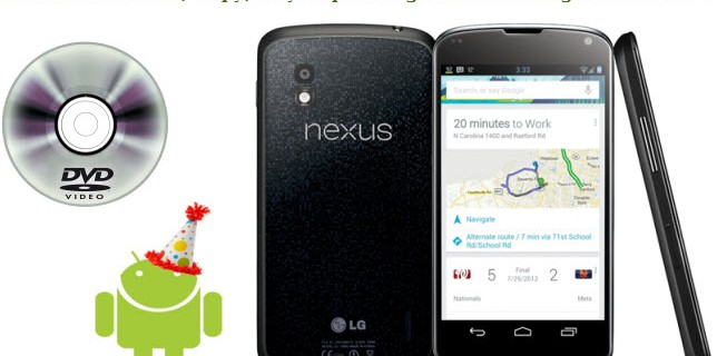 Copy Top-Selling DVD movies to Nexus 4
