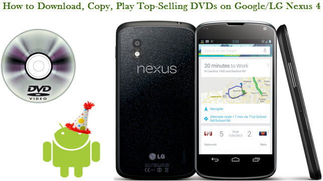 Copy Top-Selling DVD movies to Nexus 4