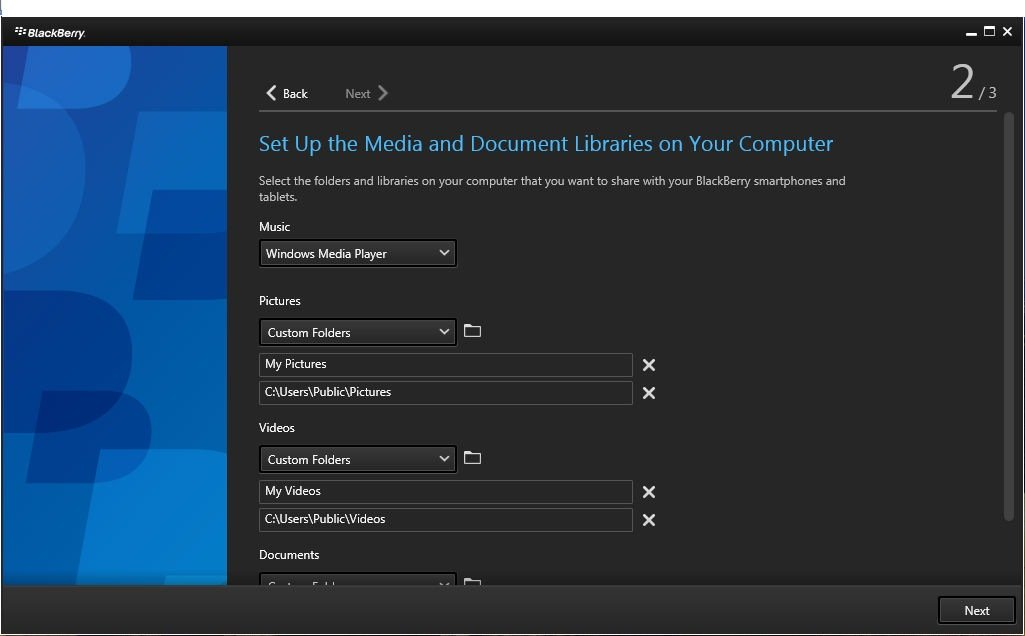 Set up the media and document libraries