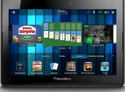 Top 10 Free Games for BlackBerry PlayBook