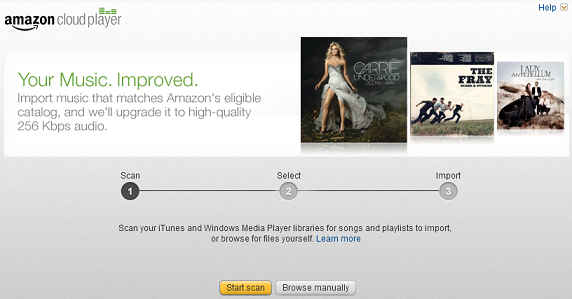 Amazon Music Importer scan for songs
