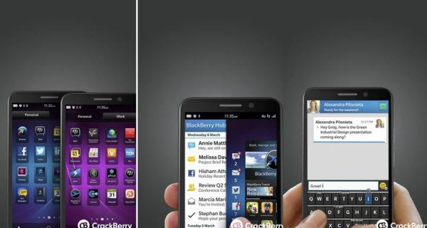 BlackBerry Z30 and Z10