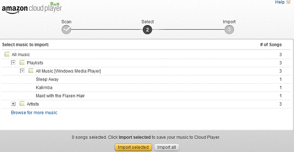 import into Amazon Cloud Player
