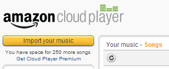 import music to Amazon Cloud Player