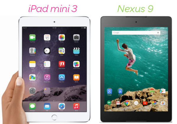 Nexus 9 vs iPad Mini 3 Comparison