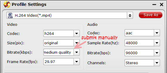 mp4 format settings