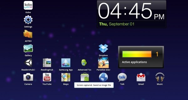 take screenshots on a samsung galaxy tab 2