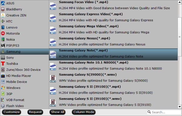 Galaxy Note 10.1 2014 Edition Video Format