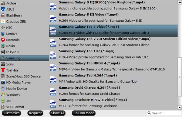 Galaxy TabPro 8.4 Video Format