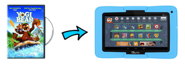 Put Disney DVD movie to Kurio Xtreme Kids Tablet