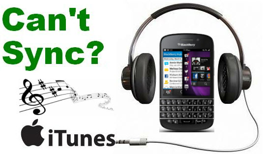 sync iTunes music to BlackBerry Z10, Q10