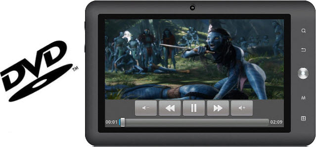 Transfer DVD movies to Coby Kyros Tablet