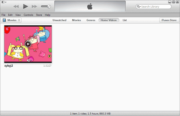 add video to iTunes library