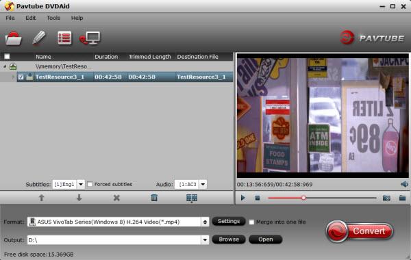 DVD to VivoTab 8 Ripper