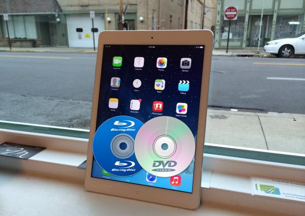 keep Blu-ray/DVD on iPad Air