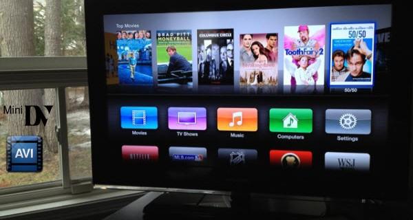 Convert AVI from MiniDV cassettes to Apple TV