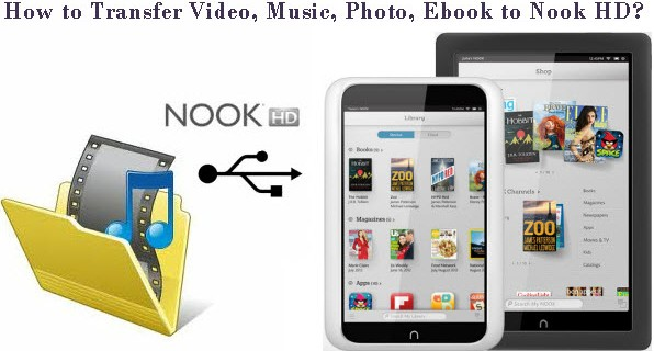 Transfer media contents from computer to Nook HD/HD+ tablet