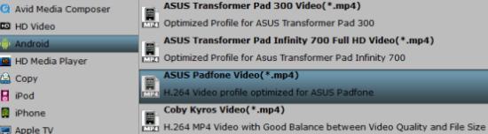 Asus Padfone compatible format