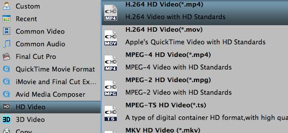 Choose MP4/MOV format