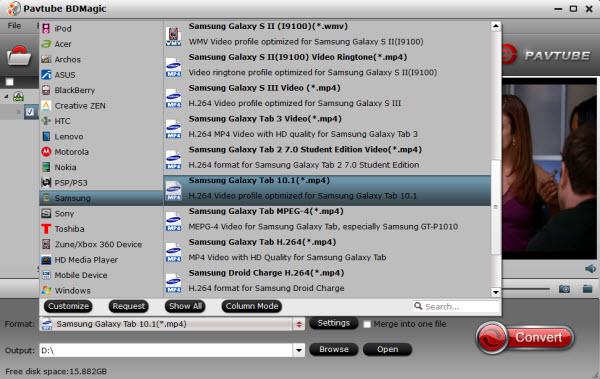 Galaxy Tab Pro 10.1 video format