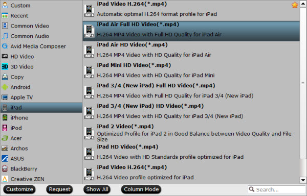 iPad Air video format