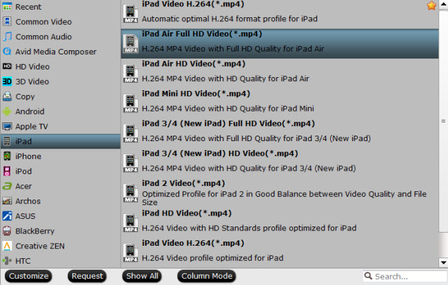 ipad air supported video format Convert MKV, AVI, VOB, FLV, WMV, MTS, XviD, Divx to iPad Air 2 with no quality loss