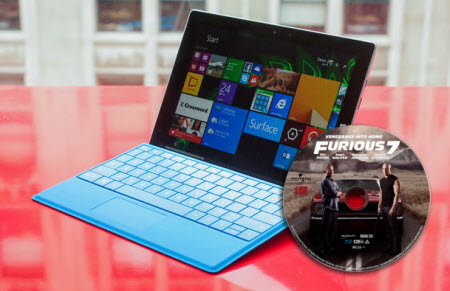 "Watching ""Furious 7"" Blu-ray movies on Surface 3"