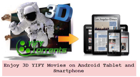Watch 3D YIFY Movies on Android Tablet or Smartphone